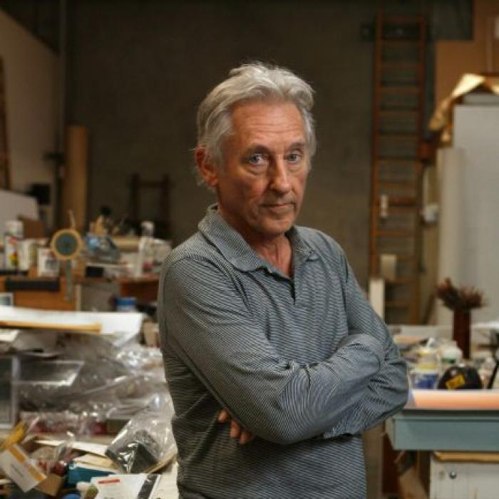 Ed Ruscha poses for photographs in his studio in Venice California, November 23, 2009.  Photo: Ann Johansson/Corbis/Getty Images