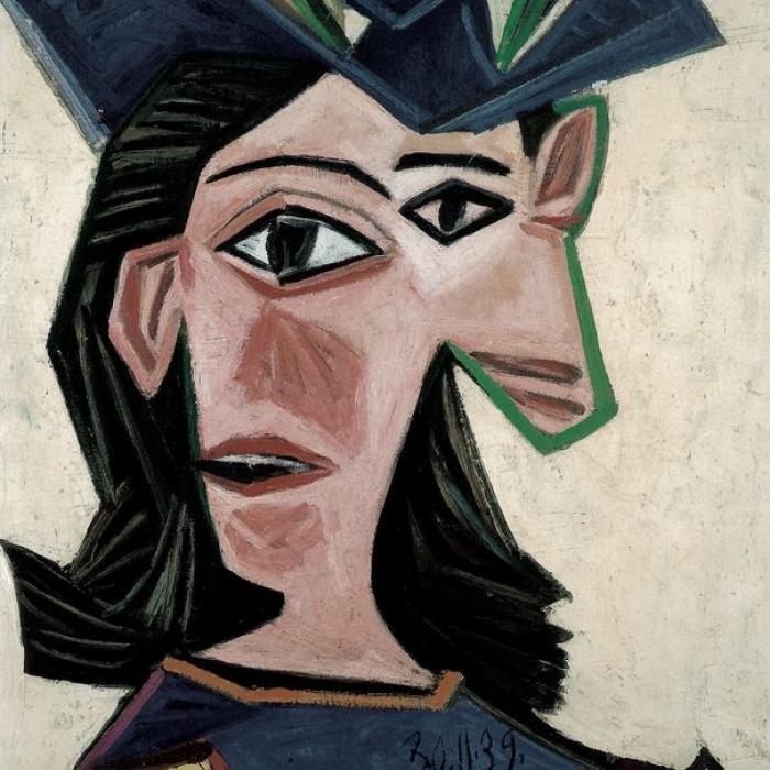 Pablo Picasso, Buste de femme au chapeau (Dora), 1939  Huile sur toile  55.0 x 46.5 cm  Fondation Beyeler