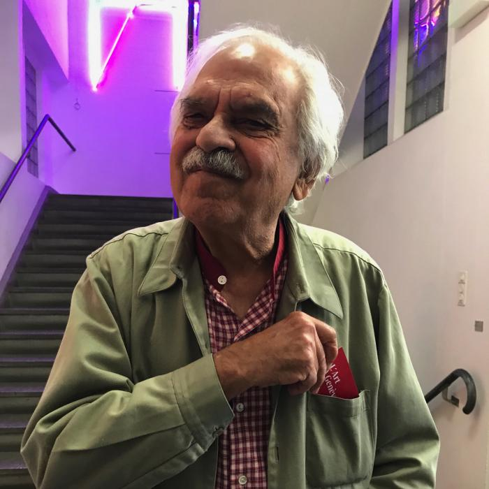 Rasheed Araeen au Mamco – photo Vanna Karamaounas©