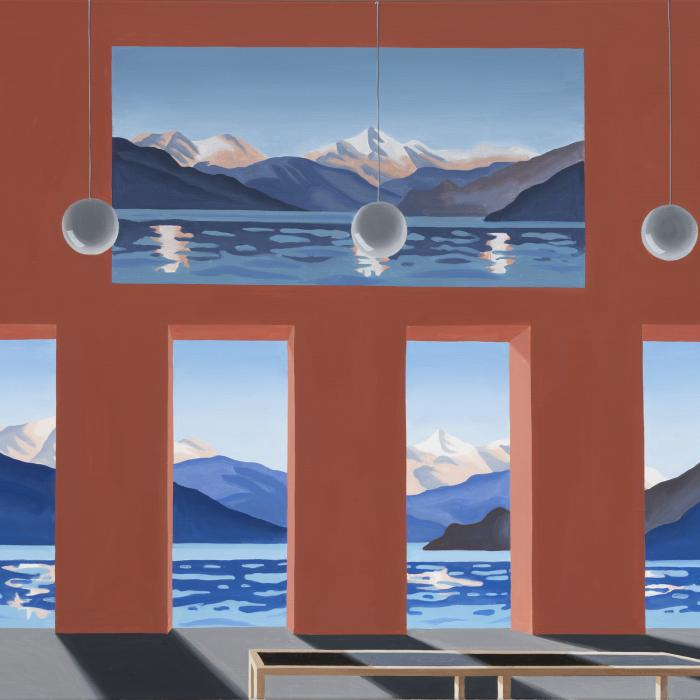 Bellavista, Thomas Huber, 2021, huile sur toile, 100x140 cm