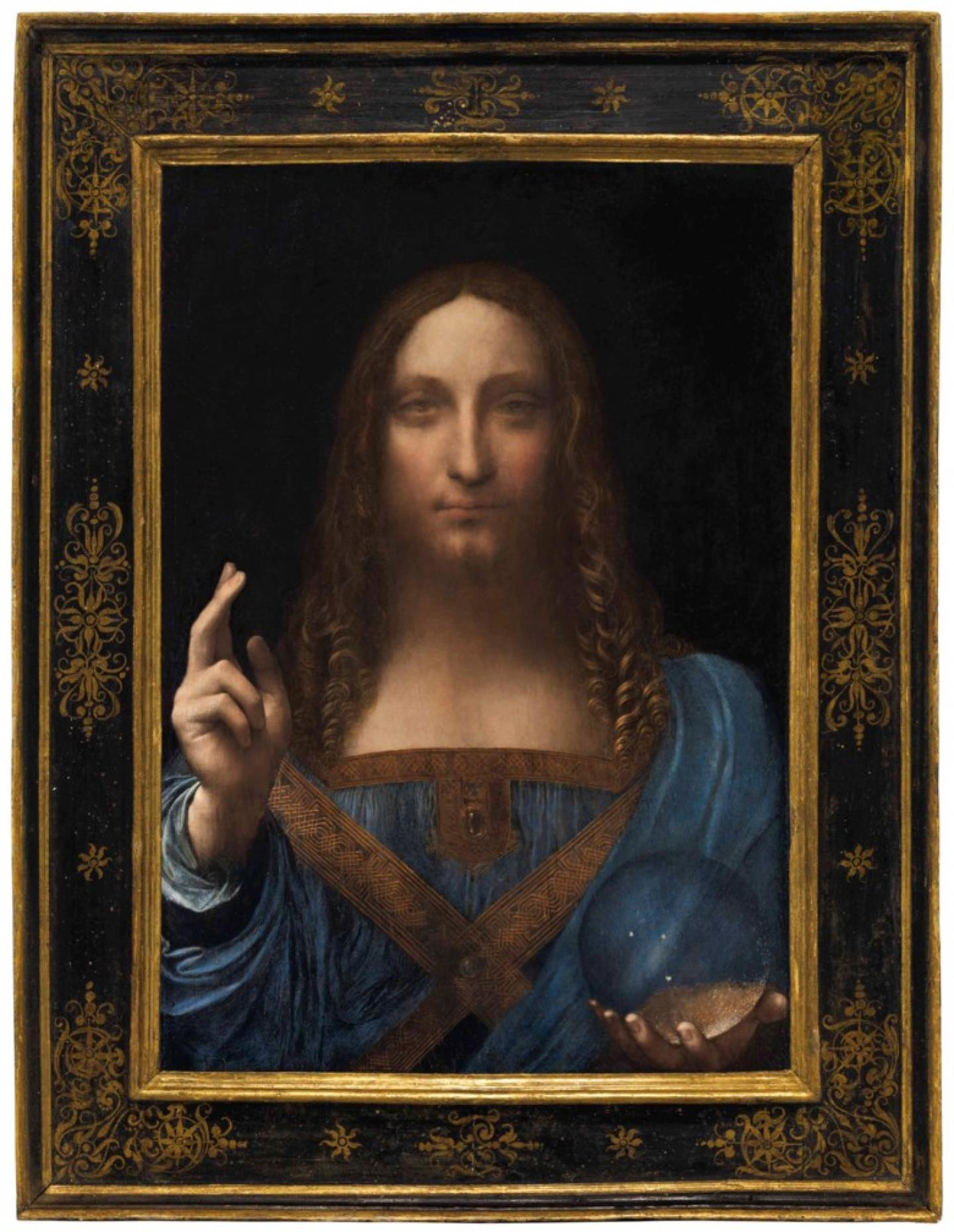 ©Christie's Leonardo da Vinci (1452-1519), Salvator Mundi, painted circa 1500. 25⅞ x 18 in (65.7 x 45.7 cm). Sold for $450,312,500 in the Post-War & Contemporary Art Evening Sale on 15 November 2017 at Christie's in New York