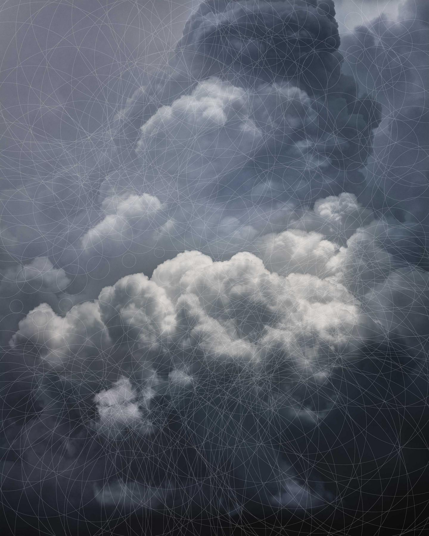 Trevor Paglen  CLOUD #865 Hough Circle Transform, 2019 Dye sublimation print 60 x 48 in.  ©Trevor Paglen Courtesy of: the Artist and PACE Gallery