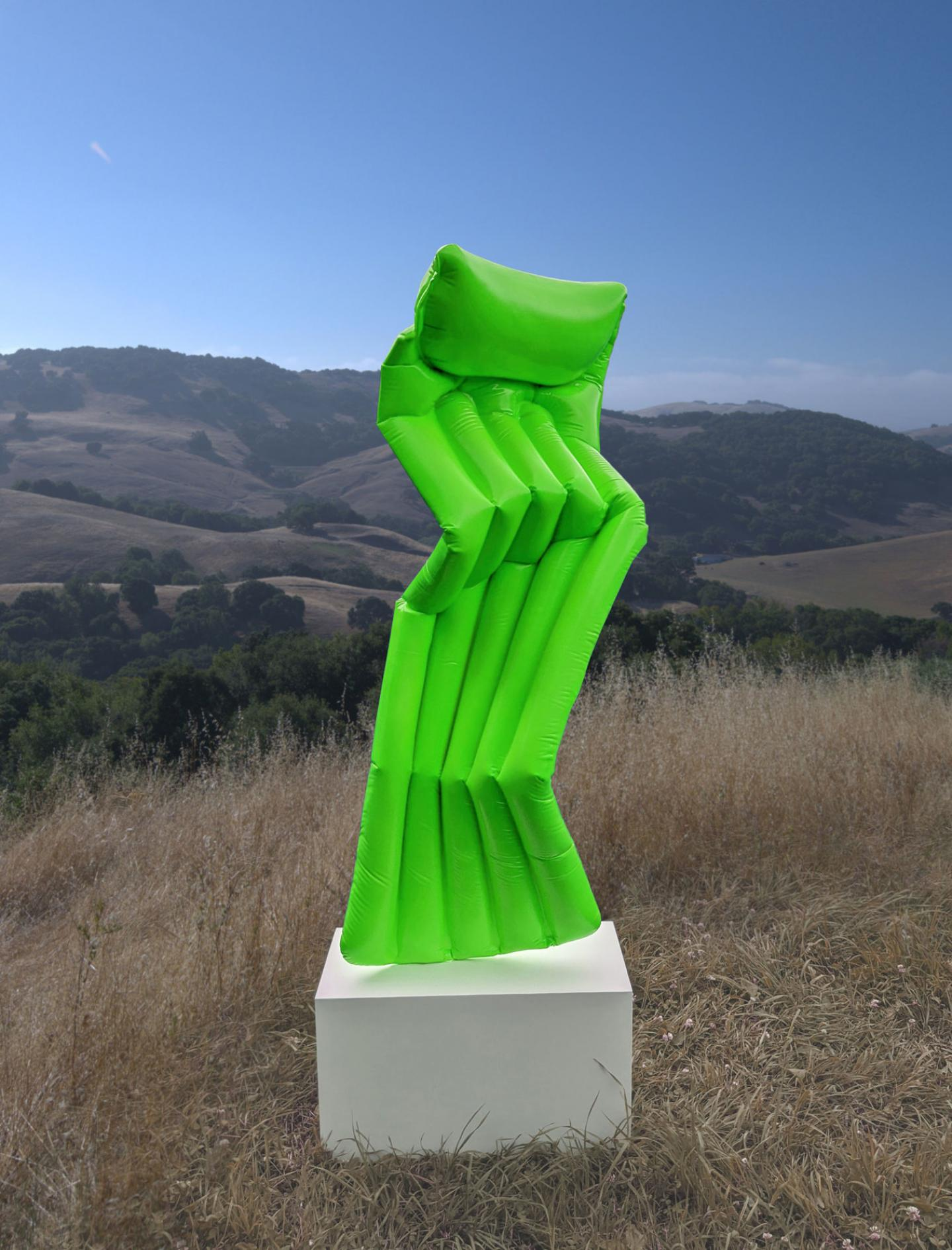 ADAM PARKER SMITH Contrapposto pool float, 2020 Resin, Steel, fiberglas, urethane, powder coated steel base 152 x 53 x 35 cm (59.8 x 20.9 x 13.8 inch) Signed, Estimate: $28,000 - $30,000