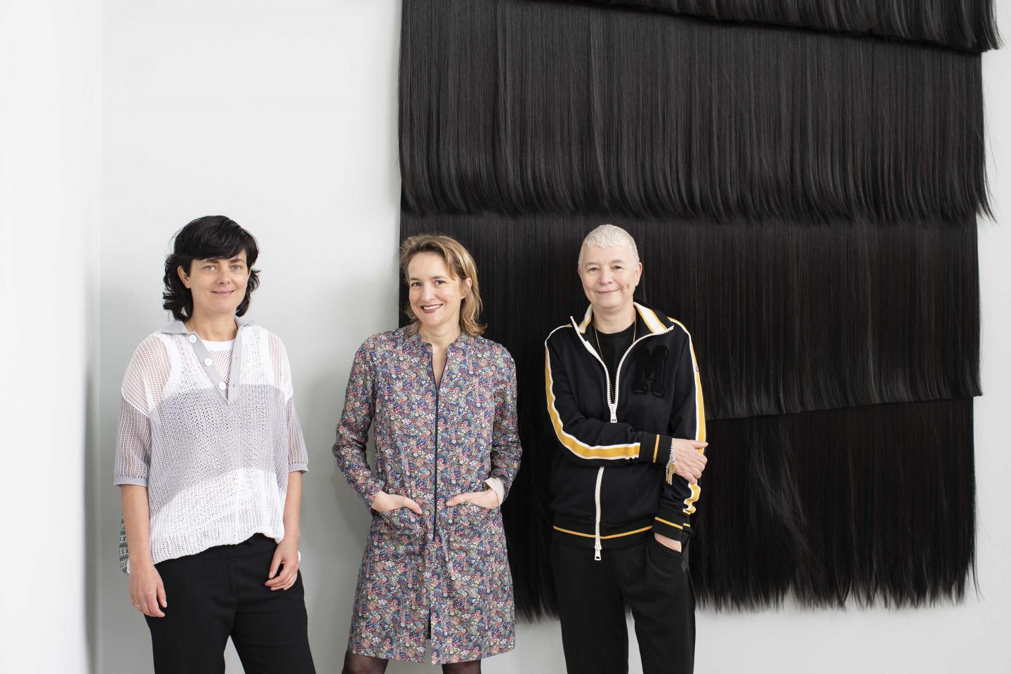 Pauline Boudry, Charlotte Laubard, Renate Lorenz (left to right) at the Swiss Pavilion 2019. ©KEYSTONE / Gaëtan Bally